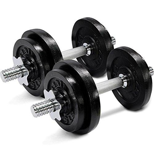 60 lbs Adjustable Cast Iron Dumbbells - ²D1IBZ Sport & Recreation Yes4All
