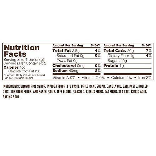 Gluten Free + non-GMO + Vegan, Fig Bar, Original Fig (36 Count) Food & Drink Nature's Bakery
