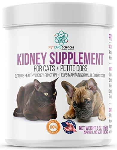 PET CARE Sciences Petite Dog And Cat Kidney Renal Support Supplement - Strengthens, Reduces Pain And Swelling. Made In The USA Animal Wellness PET CARE Sciences