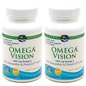 Omega Vision, 1000 mg, 60 ct by Nordic Naturals (Pack of 2)