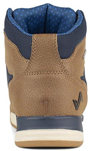 Forsake Clyde II - Men's Waterproof Leather Hiking Shoe (14 D(M), Brown/Navy)