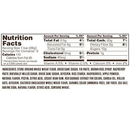 Whole Wheat Fig Bar, Vegan + Non-GMO, Raspberry (12 Count) Food & Drink Nature's Bakery
