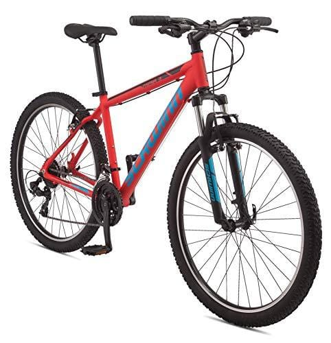 Schwinn Mesa 3 Adult Mountain Bike, 21 speeds, 27.5-inch Wheels, Mens Small Frame, Red
