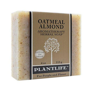 Oatmeal Almond 100% Pure & Natural Aromatherapy Herbal Soap- 4 oz (113g)