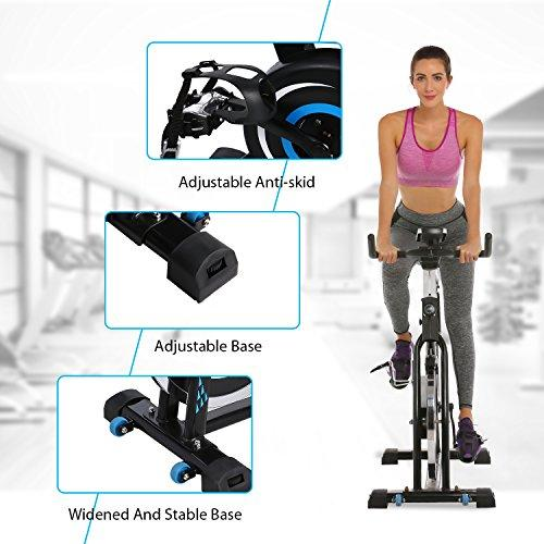 ANCHEER Belt Drive Indoor Cycling Bike, 49 LBS Flywheel Spin Bike (black) Sport & Recreation ANCHEER