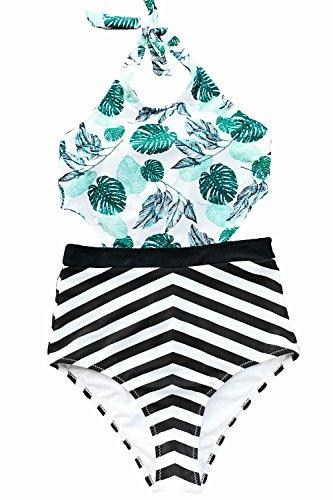 CUPSHE Women's Sunny Summer Print One-Piece Swimsuit Beach Swimwear Bathing Suit (M)