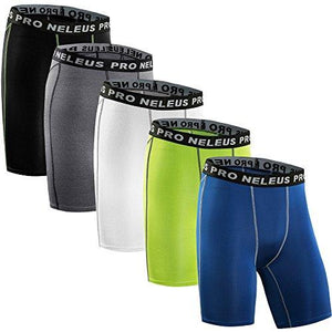 Neleus Men's 3 Pack Compression Short