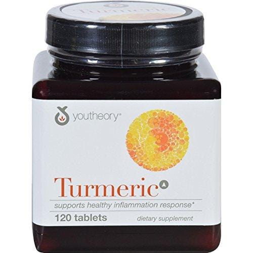 Youtheory Turmeric - Advanced Formula - Ani-Inflammatory Support - 120 Tablets (Pack of 4)