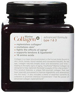 Youtheory Marine Collagen with 18 Amino Acids, 160 Count (1 Bottle)