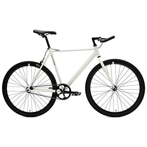 Critical Cycles Classic Fixed-Gear Single-Speed Bike with Pursuit Bullhorn Bars, 49cm/Small, White Sport & Recreation Critical Cycles