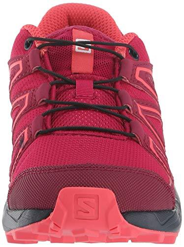 Salomon Kids' Speedcross J Trail Running Shoe, Cerise/Navy Blazer/Dubarry, 4 Child US