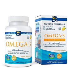 Nordic Naturals - Omega-3 Fish Gels, Cognition, Heart Health, and Immune Support, 60 Soft Gels