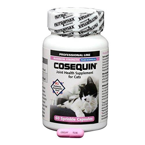 Nutramax CQCAT60P 60 Count Capsule Cosequin for Cats Animal Wellness Nutramax