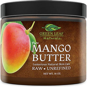 Mango Butter - Raw Unrefined Organic - 100% Pure for Hair and Skin - Smooth and Creamy for DIY Recipes (16 oz)