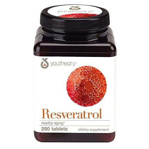 Youtheory Resveratrol with Acerola, 290 Count (1 Bottle)