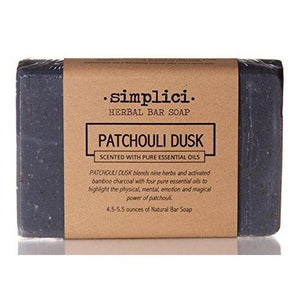 SIMPLICI Patchouli Charcoal Bar Soap (scented with pure essential oils)