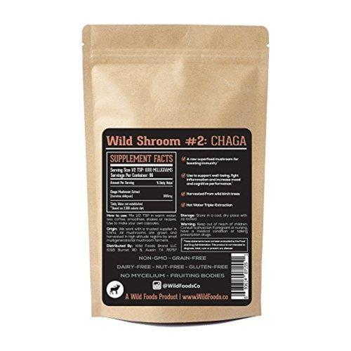 Chaga Mushroom Extract Supplement Wild Foods