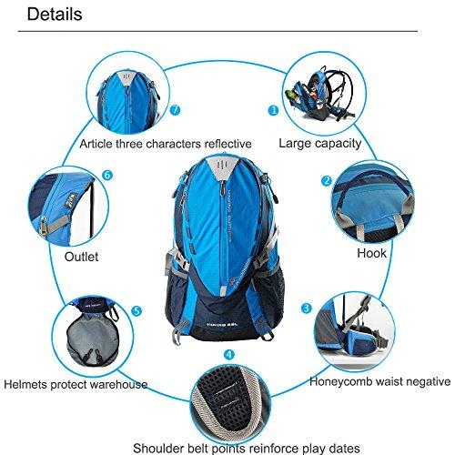 Mountaintop® Outdoor Hiking Climbing Cycling Backpack Waterproof Mountaineering Bag M509 Shoulder Bag 25L Unisex Travel Bag Multi Colors (Dark Blue)