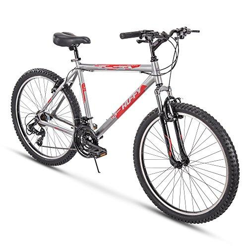 "Huffy 26"" Escalate Mens 21-Speed Hardtail Mountain Bike, 20"" Aluminum Frame, Trigger Shift, Gloss Nickel Sport & Recreation Huffy"