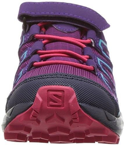 Salomon Unisex Speedcross CSWP K Trail Running Shoe, Grape Juice, 12K M US Little Kid