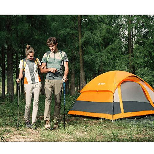 SEMOO Water Resistant, 2-3 Person, 1 Door, 3-Season Lightweight Dome Tent Camping Carry Bag