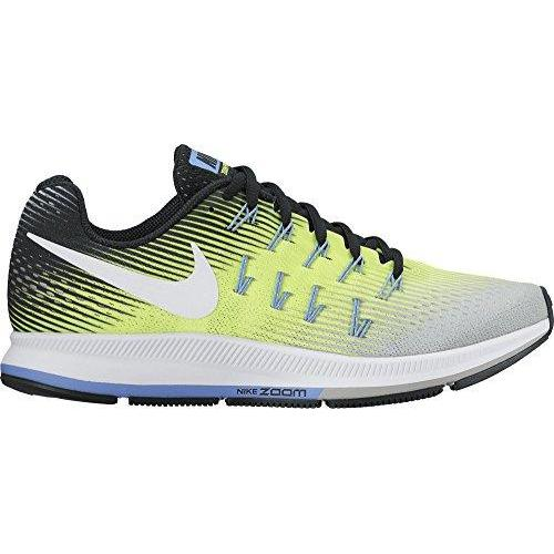 NIKE Women's WMNS Air Zoom Pegasus 33, Matte Silver/White-Volt-Black, 5 M US Shoes for Women NIKE