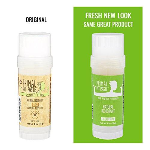 All Natural Coconut Lime Deodorant – Aluminum Free, Paraben Free Beauty & Health Primal Pit Paste