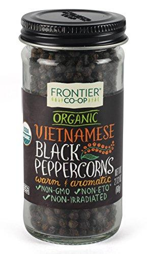 Vietnamese Pepper Corns, Black Whole, 12 Count (Pack of 12) Food & Drink Frontier