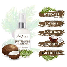 SheaMoisture 100% Virgin Coconut Oil Daily Hydration Face Lotion, 3 Ounce
