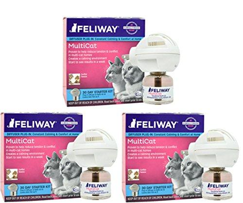 CEVA Animal Health Feliway MultiCat Starter Kit, 3 count Animal Wellness CEVA Animal Health