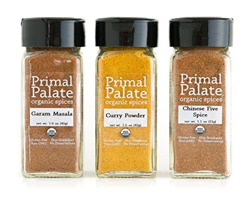 Primal Palate Organic Spices - Taste of Asia Pack 3-Bottle Gift Set