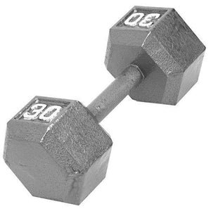 CAP Barbell Solid Hex Dumbbell, Single (30-Pound)
