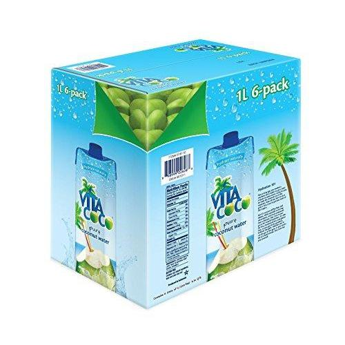 Vita Coco Coconut Water, Pure (Pack of 6) Food & Drink Vita Coco