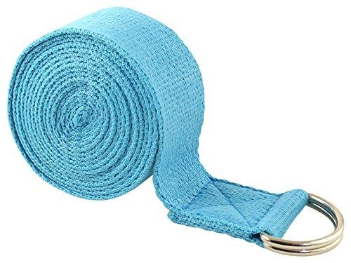 Fit Spirit 8ft Fitness Exercise Yoga Strap - Blue