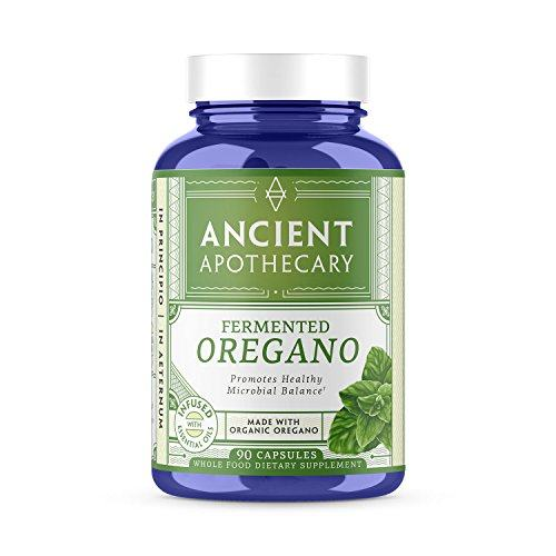 Ancient Apothecary Fermented Oregano Supplement, 90 Capsules — Infused with Organic Essential Oils, Ashwagandha Extract and Digestive Bitters
