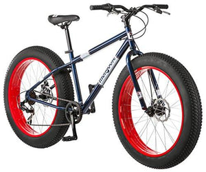"Mongoose Dolomite Fat Tire Bike 26 wheel size 18"" frame Mountain Bicycle Blue"