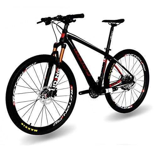 "BEIOU Carbon 27.5 Hardtail Mountain Bike Shimano Deore M6000 3x10 Speed 650B MTB 2.10"" Tires 10.8kg T800 Fiber Ultralight Frame Matte 3K CB020-6000 (Matte Black, 17"")"