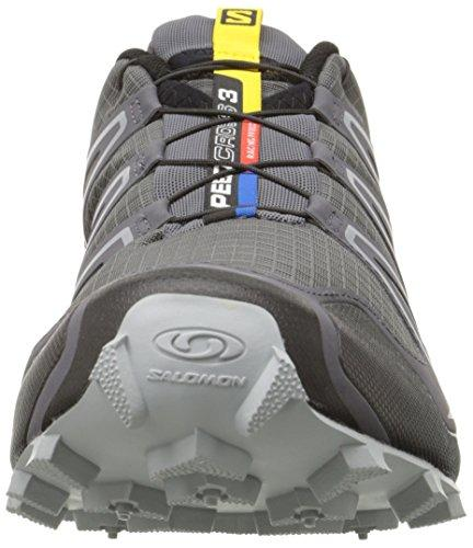 Salomon Men's Speedcross 3 Trail Running Shoe,Dark Cloud/Black/Light Onix,8 M US