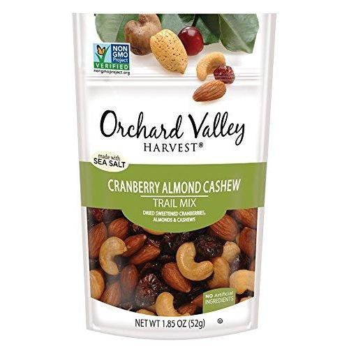 Cranberry Almond Cashew Trail Mix, Non-GMO, No Artificial Ingredients (Pack of 14) Food & Drink Orchard Valley Harvest