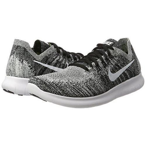 95c8a01182e4c ... NIKE Womens Free RN Flyknit 2017 Running Shoes Black Volt White 880844- 003 ...
