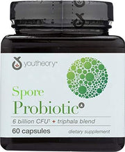 Youtheory (1 Item ONLY) Spore Probiotic 6 Billion CFU, 60 cp