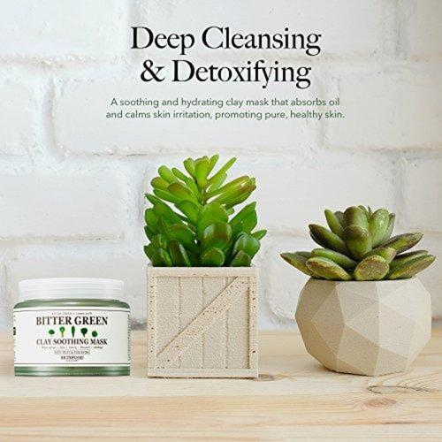 Bitter Green Soothing Clay Facial Mask Beauty & Health SKIN FOOD since 1957