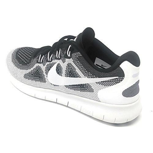 NIKE WMNS Free RN 2017 LE Running White/White -Black (8 Womens) Shoes for Women NIKE