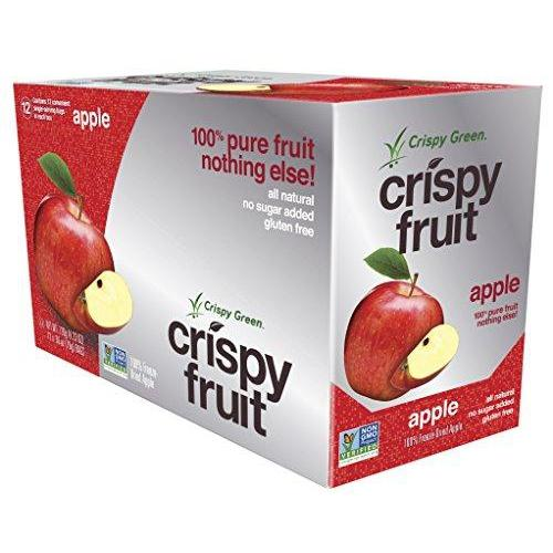 Freeze-Dried Fruits, Non-GMO, Gluten Free, No Sugar Added, Apple (12 Count)