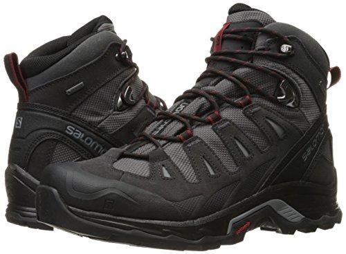 Salomon Men's Quest Prime GTX Backpacking Boot, Magnet/Black/Red Dalhia, 10.5 M US