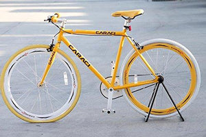 Caraci CBF2ST53YL Steel Frame Fixed Gear Bike, Yellow, 53cm