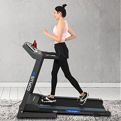 Goplus 2.25HP Electric Treadmill Foldable Running Jogging Fitness Machine for Home & Gym Black Jaguar Ⅲ Sport & Recreation Goplus
