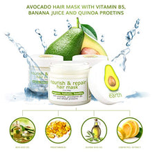 Avocado Nourish & Repair Hair Mask, w/Vitamins B3, B5 & Organic Quinoa Proteins