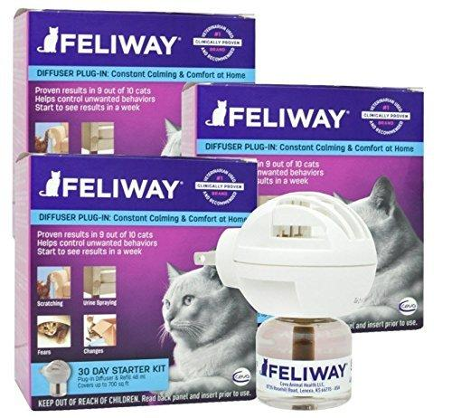 CEVA Animal Health Feliway Starter Kit, 3 count Animal Wellness CEVA Animal Health