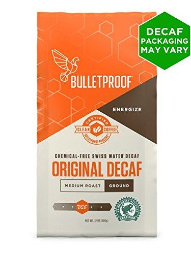 Bulletproof Coffee The Original Decaf - Premium Gourmet Medium Roast Organic Beans, Certified Clean Coffee, Upgraded Ground (12 Ounces)